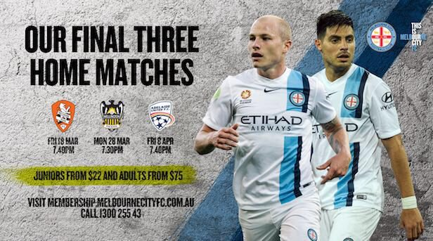 Get your 20% off for the Melbourne City FC Final 3 Match Pack!!  *offer expires on 18/3/16. https://t.co/pAKXBByygT