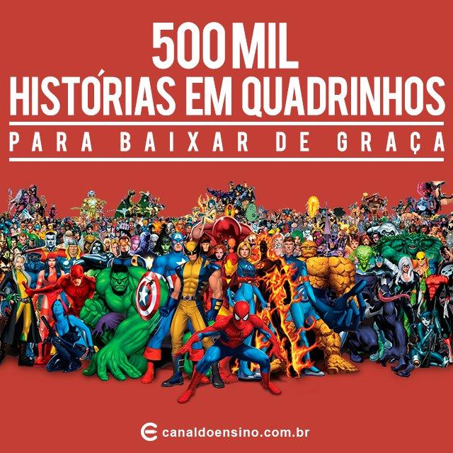 500 mil histórias em quadrinhos para baixar de graça. https://t.co/tGHjasW80W #Gibis #DownloadGratis https://t.co/Nb2cTmR4ij