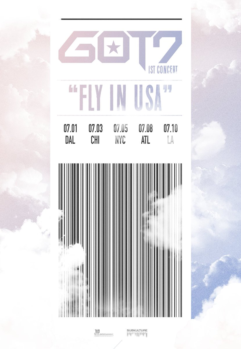 "JYP Ent and SubKulture Ent Present: 2016 GOT7 1st Concert Tour ""Fly In USA"" https://t.co/ldtWRxl6Ua https://t.co/almgnv2fQg"