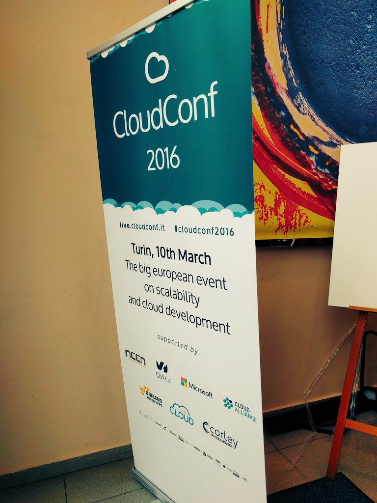 Today #cloudconf2016 in #turin :) https://t.co/Vue6wLJaP9