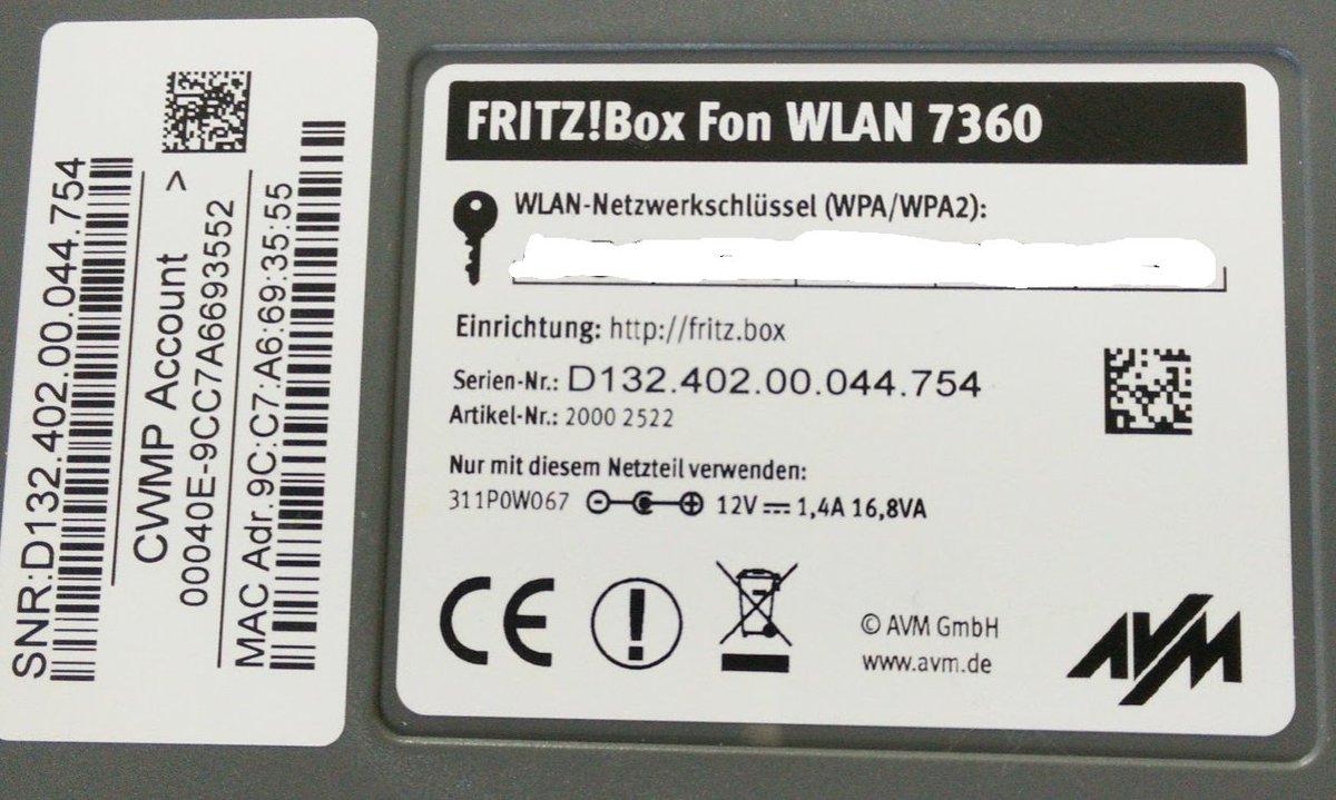 Fritzbox 7360 V1 Oder V2 Erkennen
