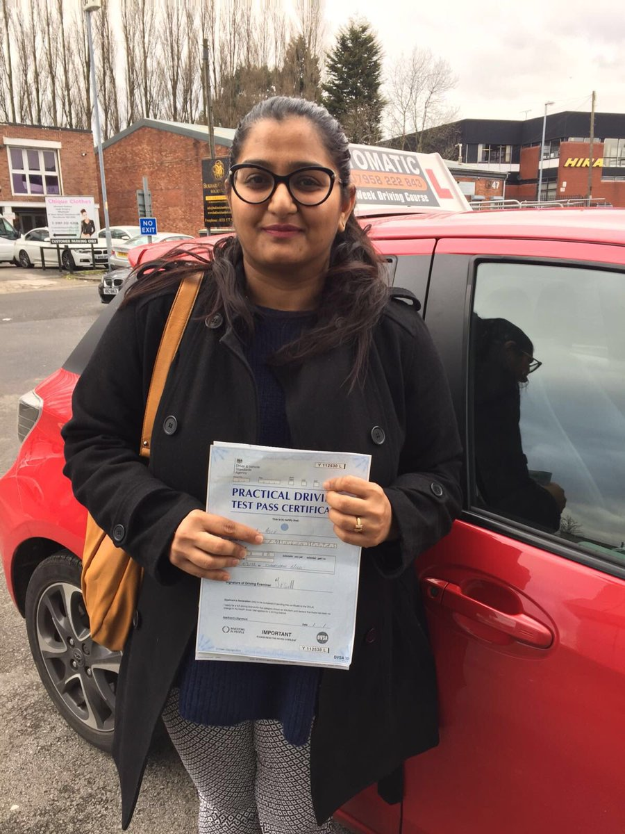 Well done Farah your perseverance paid off today #cheethamhilldrivingtestcentre #automaticdrivinglesson.com
