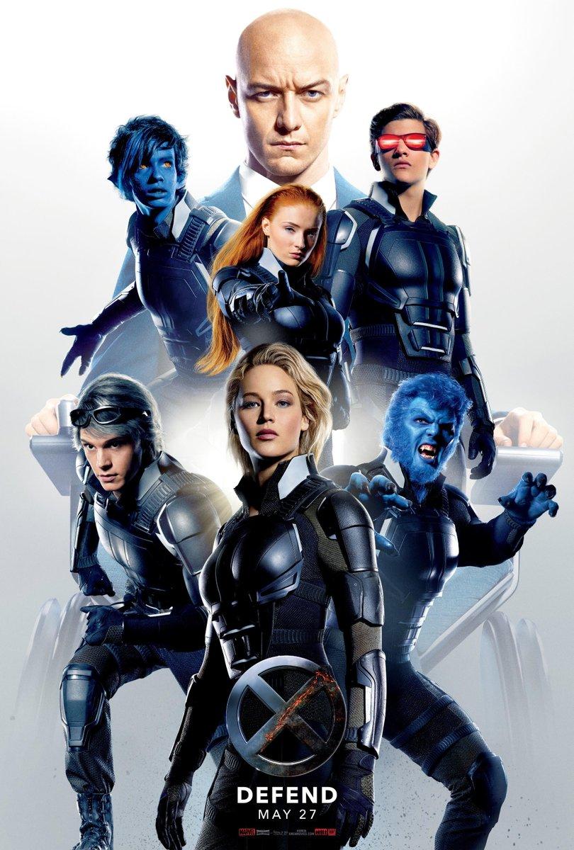 X-Men: Apocalypse Afişinde Takıma Jennifer Lawrence Liderlik Ediyor