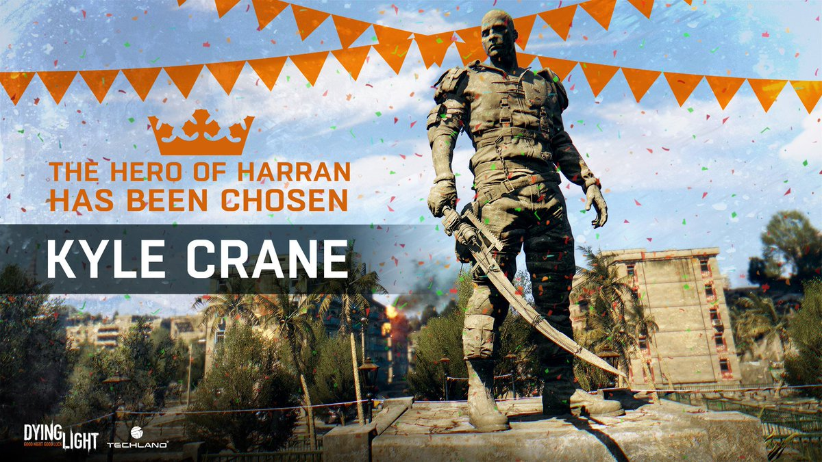 Dying Light On Twitter Last Week You Voted For YOUR Harran Hero And Here Is Your Winner Well Be Placing His Statue In The Game Soon