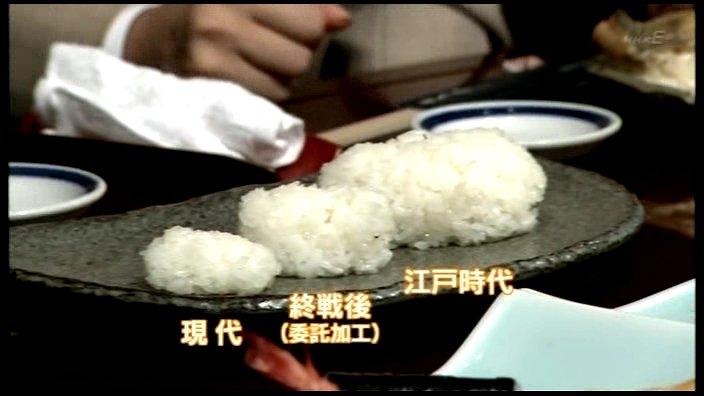 現代の寿司と江戸時代の寿司の大きさ比較 https://t.co/TT6BkGjbdB