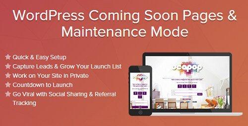 wordpress maintenance pages