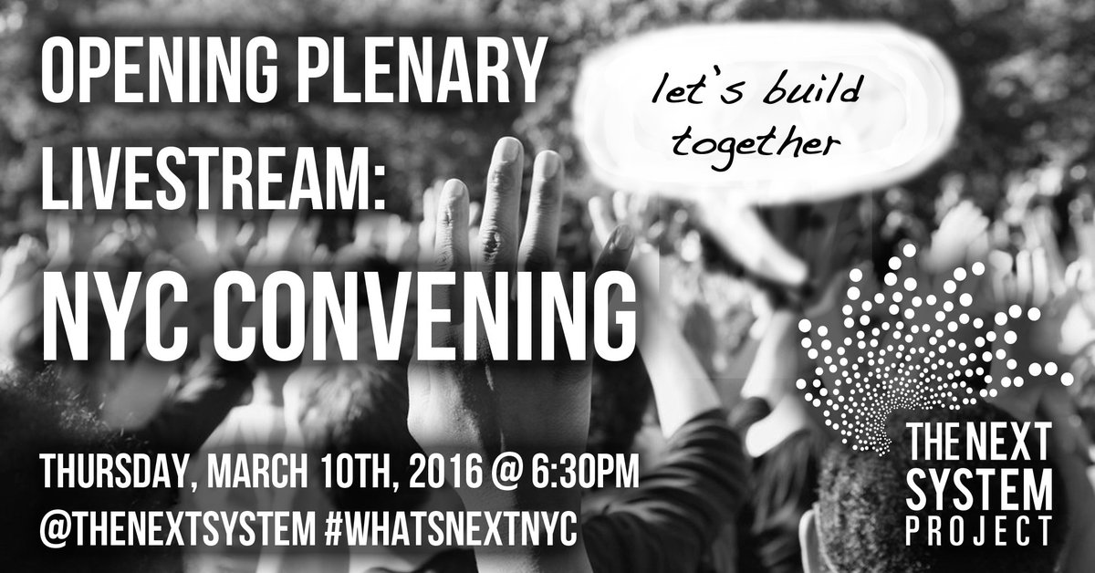 Tonite we kick off 3 days of #neweconomics to discuss and build a vision for #WhatsNextNYC https://t.co/DAD2SXtwA8 https://t.co/fHWQutkFXR