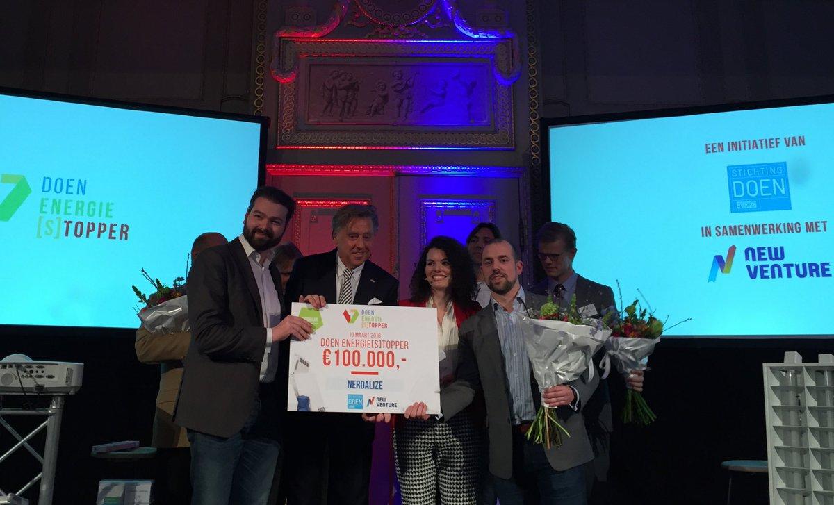 En @Nerdalize wint de @Energiestopper, gefeliciteerd met de 100.000 euro! https://t.co/rkEQ1JSH6B
