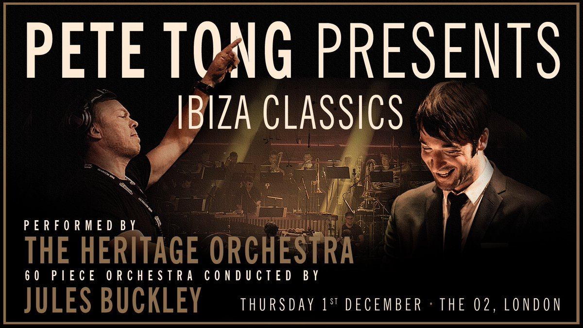 Pete tong mbe on twitter ibizaclassics pre sale sold for Ibiza classics heritage orchestra