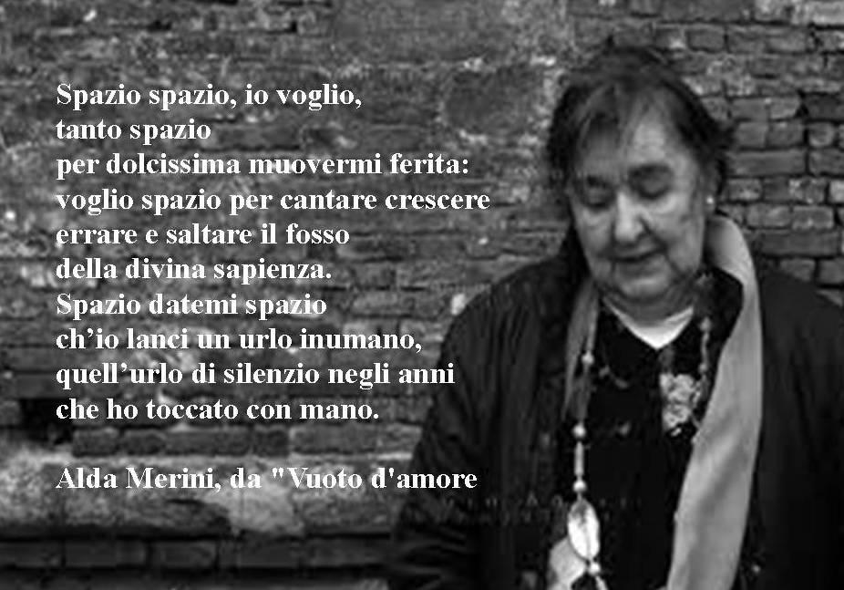 """Poesia di Alda Merini, tratta da """"Vuoto d'Amore"""""""