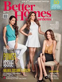 Sussanne , Malaika and Bipasha graces the cover of Better homes and garden March 2016 https://t.co/r1koKH5q6A