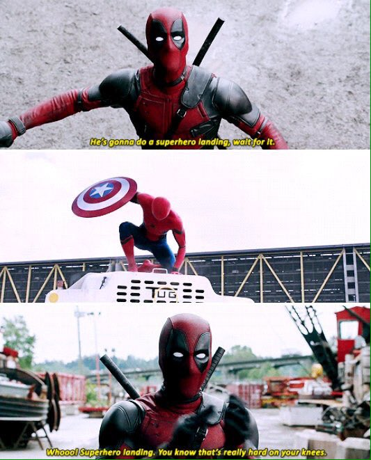 my heart is crying with fictional joy today. | #CivilWar #SpiderMan #Deadpool https://t.co/ZlG7MqykTP