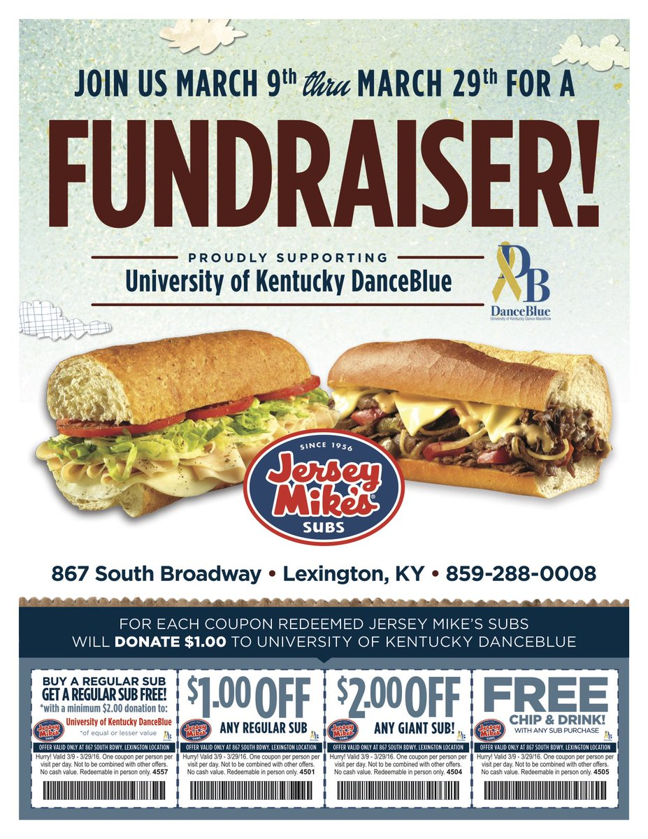 image about Jersey Mike's Printable Coupon referred to as DanceBlue upon Twitter: \