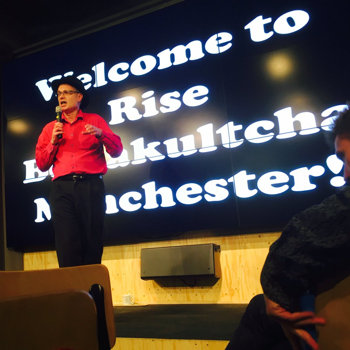 @ivortymchak gets #Bettakultcha off to a cracking start @McrThinkRise https://t.co/3upNYGtpNH