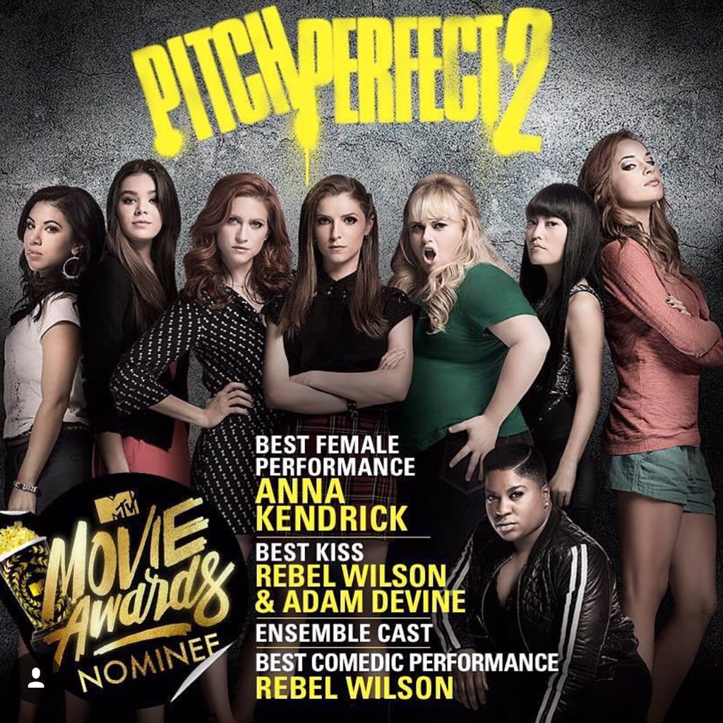 Pitch Perfect is up for 4 MTV Movie Awards! Vote here --> https://t.co/d2KvtwRjca   RT for a follow!