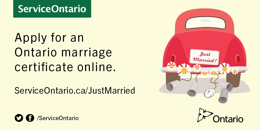 Serviceontario On Twitter Get Your Marriage Certificate Faster