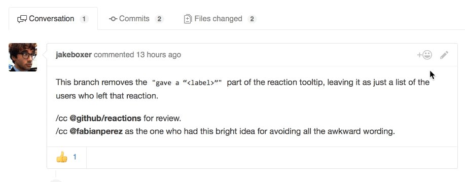 GitHub pull requests, issues, and comments get Slack-like reactions