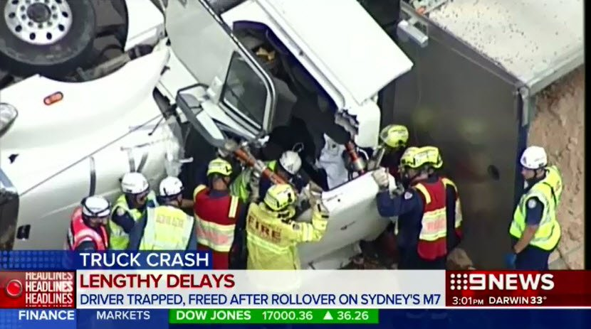 Traffic is currently backed up almost three kilometres on sydney's