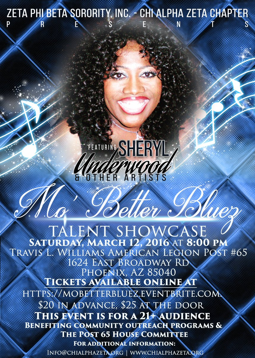 Catch @SherylUnderwood at the #MoBetterBluez Talent Showcase in Phoenix this Saturday: https://t.co/cSdTeEjDma https://t.co/Ej7iJETipG