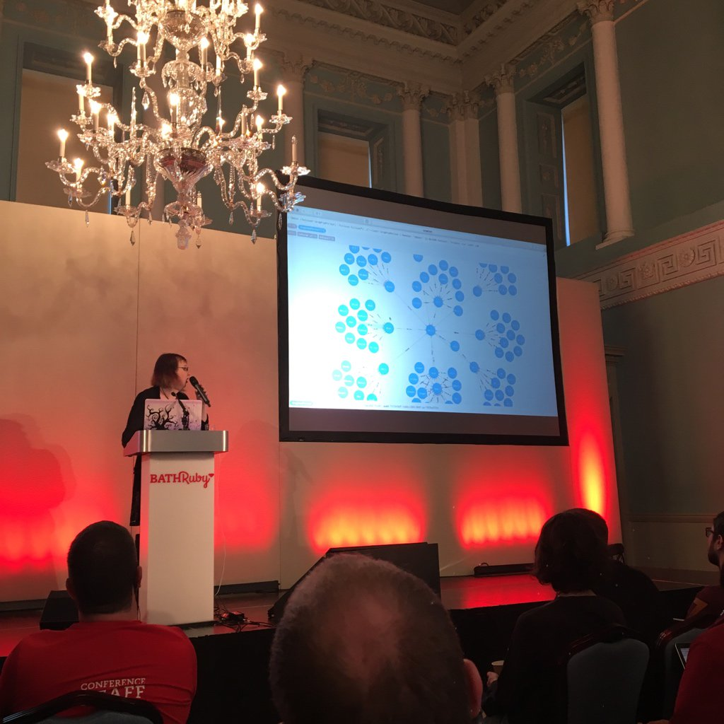 @CoralineAda talking about neo4j