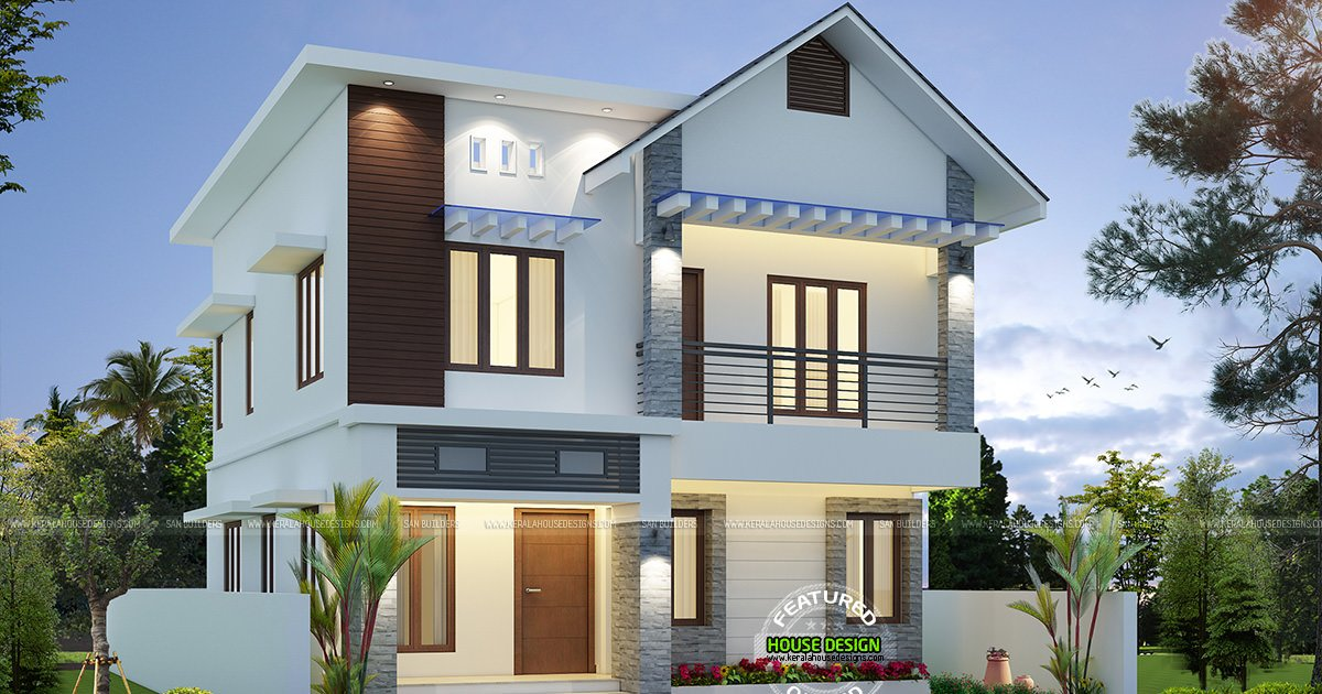 kerala home on twitter   u0026quot cute and small double storied