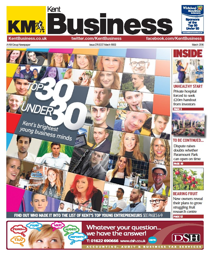 REVEALED: The brightest young entrepreneurs in Kent feature in the #Top30Under30 list https://t.co/vv6qnkP3il https://t.co/WHzYg8mtTk