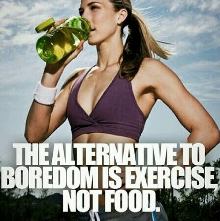 #Fitfam the alternative to boredom is #exercise not food! #GetFITnLEAN #fitspo #nutrition #diet https://t.co/5hGf1pQjgC