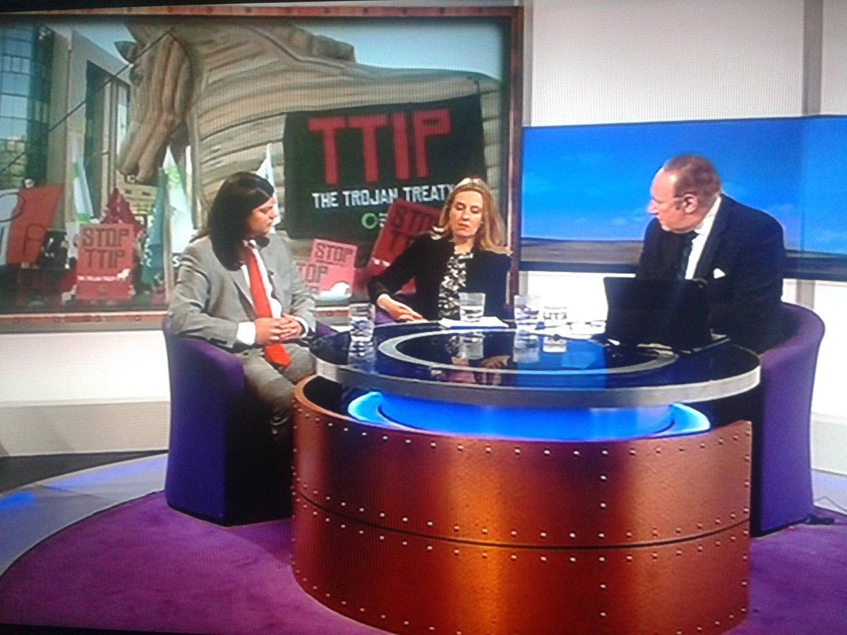 Dangers of secret #TTIP trade deal opened up for  debate on BBC #DailyPolitics show with @foeeurope #trojanhorse https://t.co/GlO2C6brNX
