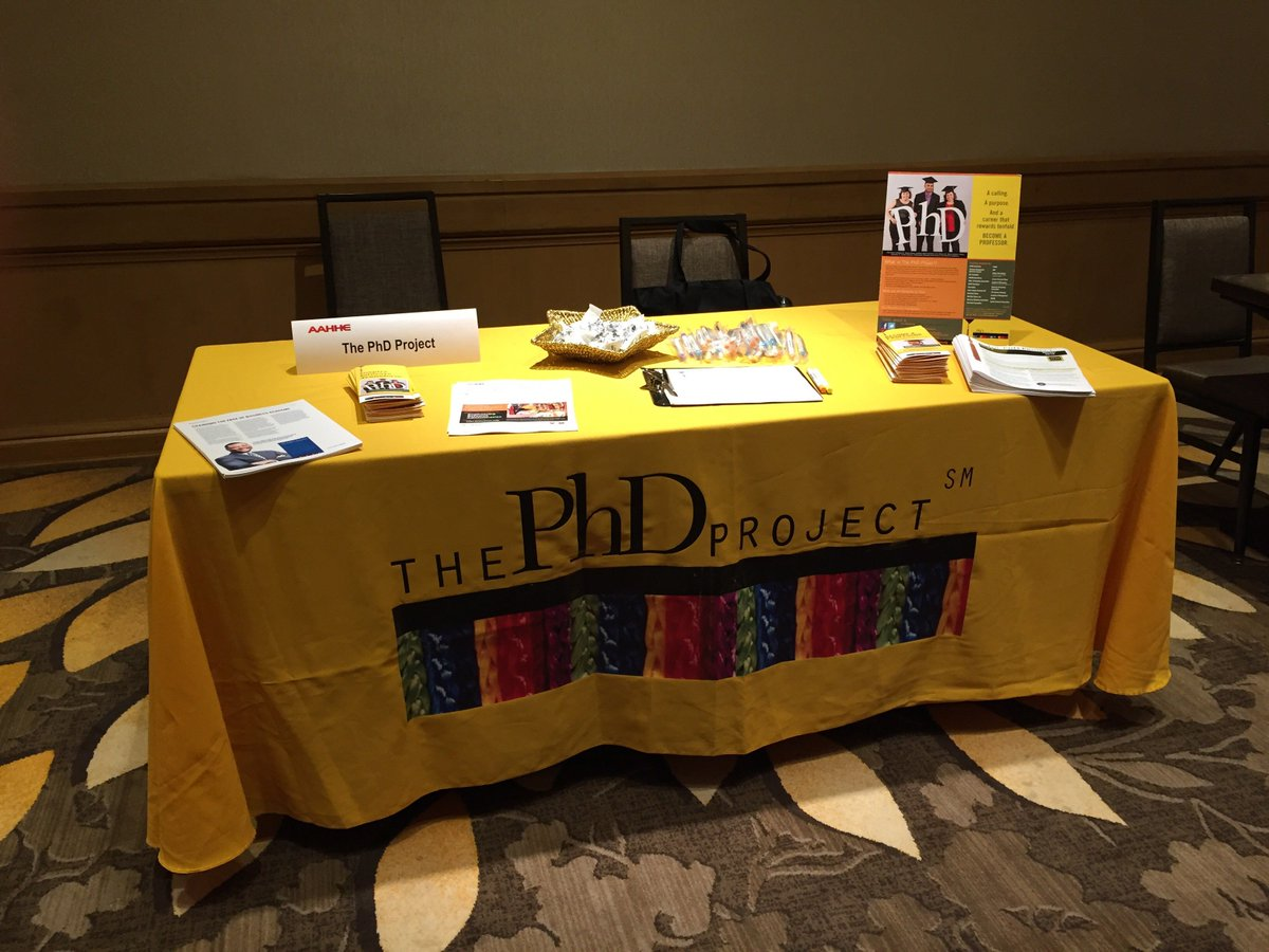 Stop by our table today during #AAHHE16! Chat with Dr. @RebecaPerren about #Career in #Business #PhD #LatinosAchieve https://t.co/aAwbwE1ajA