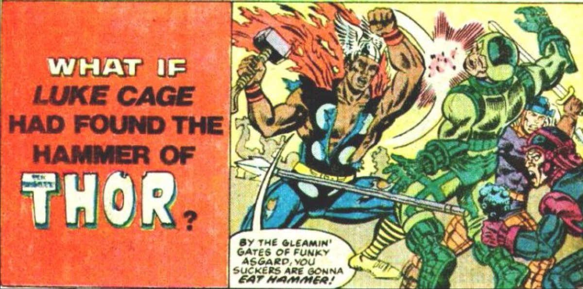 norse mythology on twitter what if luke cage had found the hammer of thor sweet christmas an actual marvel comic from 1982 httpstcoohm7hyvev5