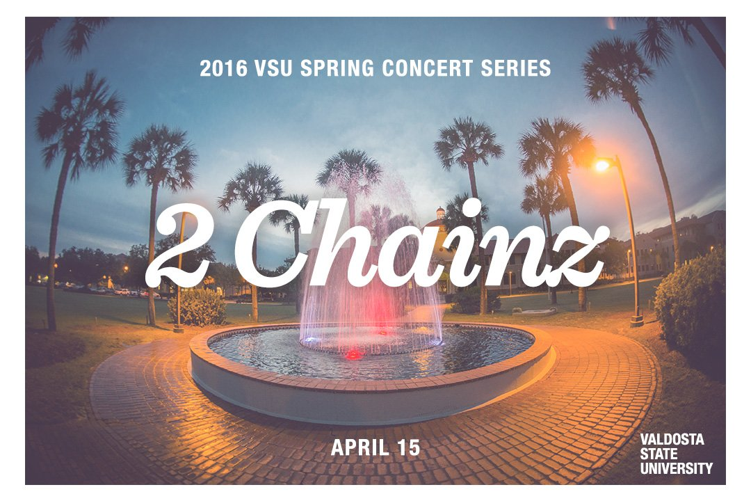 WATCH OUT! @2chainz set to perform at #ValdostaState April 15! Details, location and ticket prices coming soon. https://t.co/EdrDcYPnIc