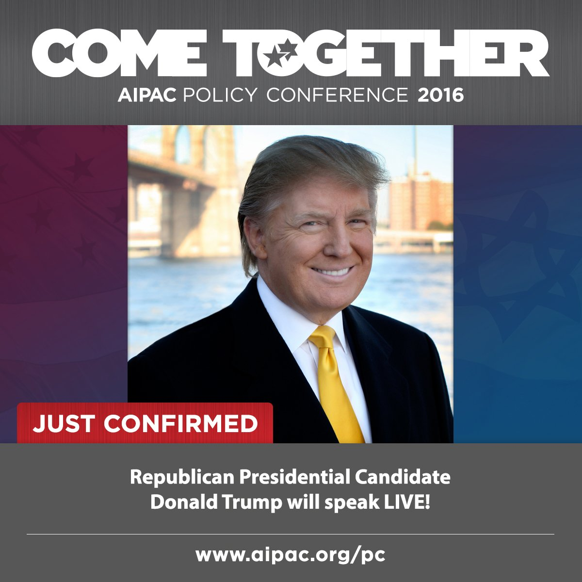 JUST CONFIRMED: @realDonaldTrump will deliver LIVE remarks at #PC16 https://t.co/dtrXG4IojX https://t.co/rDa3xfQl3I
