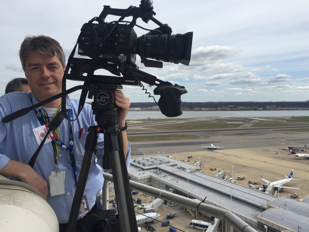 Great production today at DCA Washington for Critical Infrastructure documentary @FedEdJill @FederalTimes @FAANews