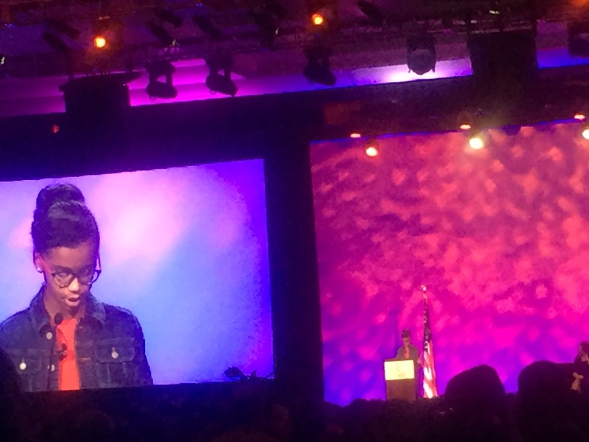 """""""I believe that diversity matters & books assigned in schools should include all voices"""" - Marley Dias #TLConf2016 https://t.co/7VoKY2lvFd"""