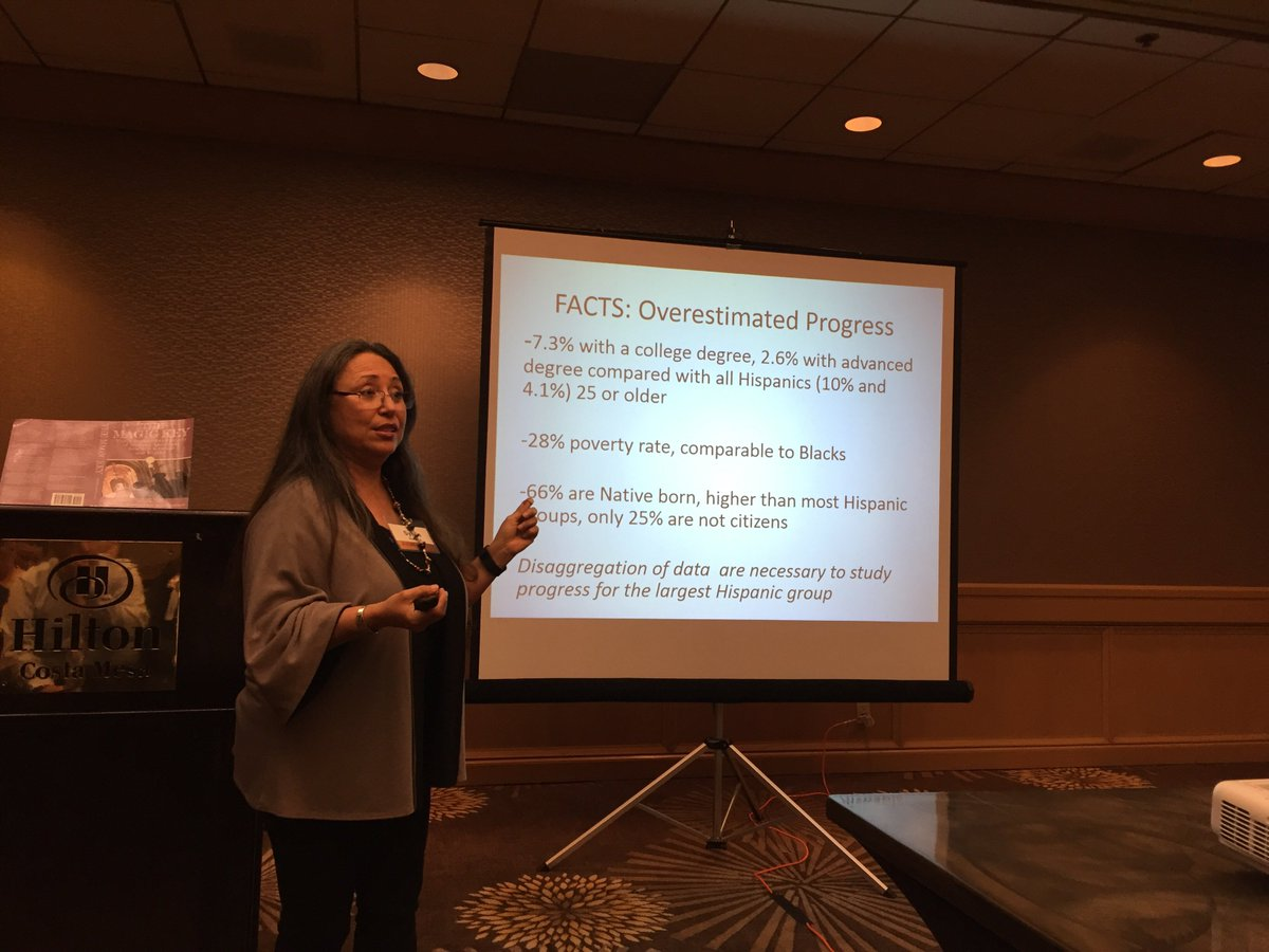 Dra. Sylvia Hurtado extrapolating why we must focus on Mexican Americans in higher ed. #aahhe16 https://t.co/OljpYt2CmH