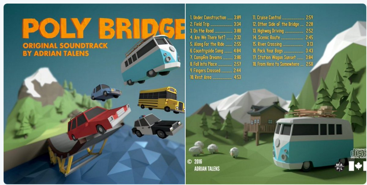 Retweet for the chance to win the Poly Bridge digital soundtrack album by @adriantalens - https://t.co/VdgVy8eS7M. https://t.co/JVBRM5UAjv