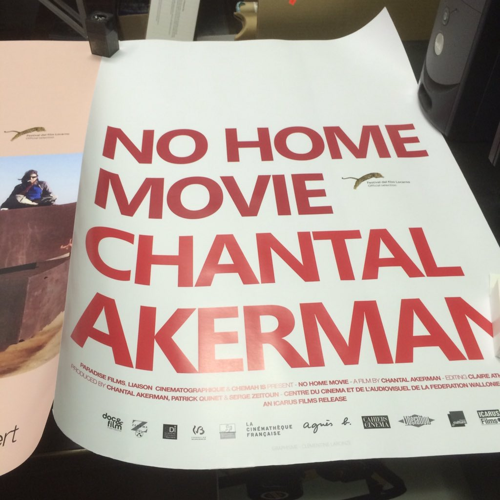 Poster for Chantal Akerman's  https://t.co/HTHRAEwUA7 final film NO HOME MOVIE #ComingSoon Opens Friday 1 April @BAM_Brooklyn @BAMcinematek