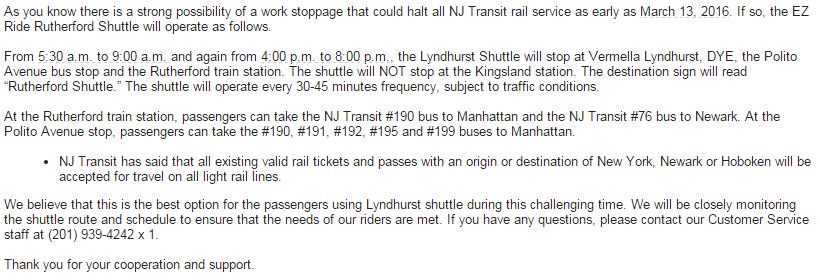 Shuttle Updates on Twitter: