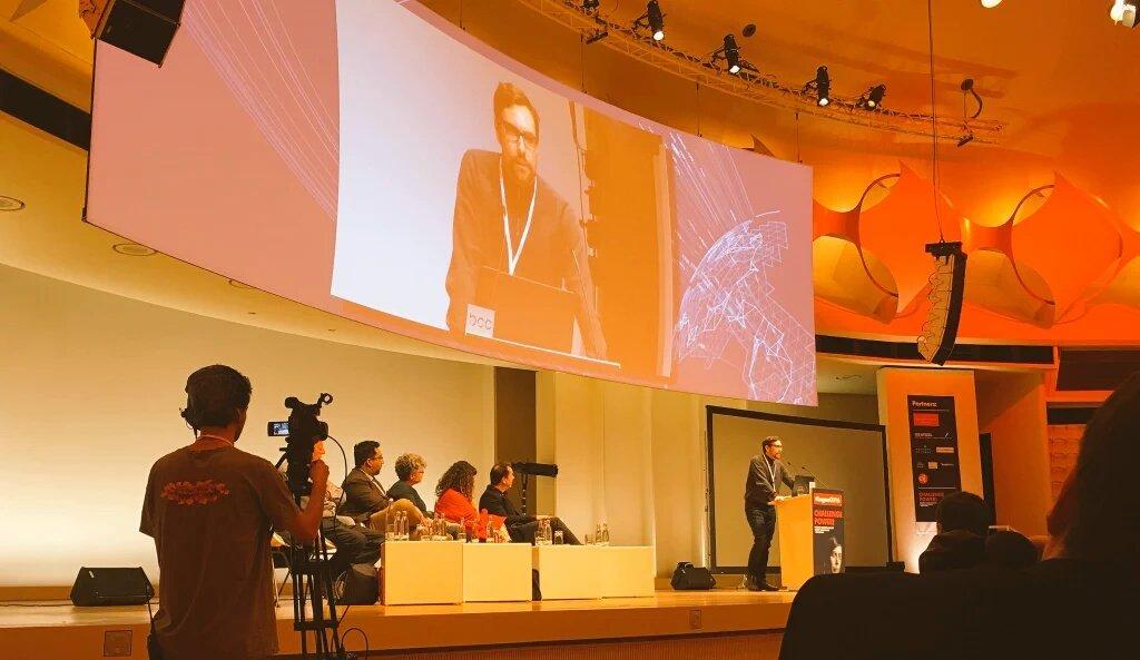 Appelbaum at CIJ event