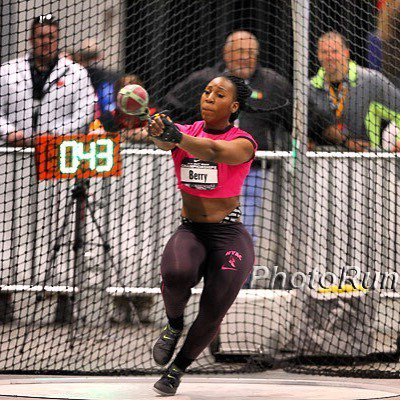 "Gwen Berry was first Nike champion at 2016 @usatfindoors. Gwen threw 24.35 meters or 79'10.75"" in the weight throw!… https://t.co/FwIOyKfBDO"