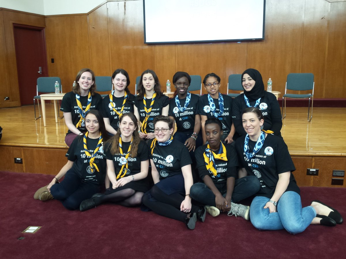 The very first CSW youth forum kicked off today ... @wagggs_world  is well represented ;-) https://t.co/S3HFEH8TGd