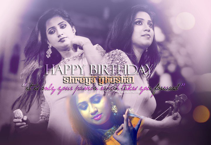 Being inspiring and institutional to millions. #HappyBirthdayShreyaGhoshal @shreyaghoshal ❤ https://t.co/6DphJgJUGv