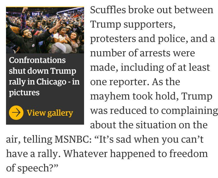 """""""Whatever happened to freedom of speech?"""" asks popular racist on a national news network. https://t.co/Djc64oFqND"""