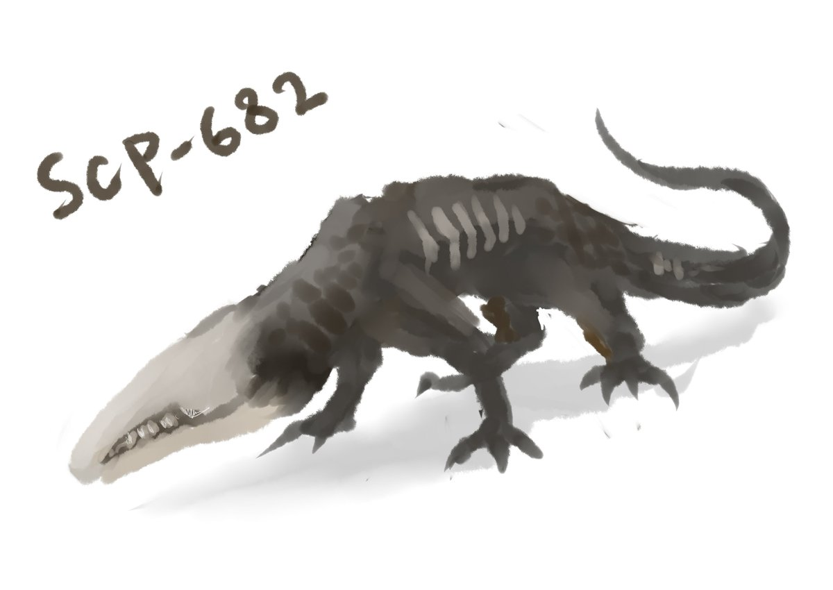 不死身 の 爬虫類 SCP682(不死身の爬虫類)に勝てると思われる人型のキャラクターってい....