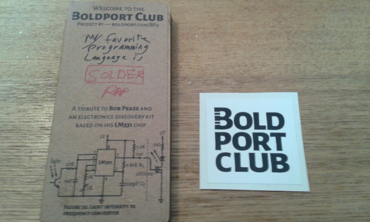 Beautifully presented and a nice big sticker for the laptop lid ;) thanks @boldport club #BoldportClub