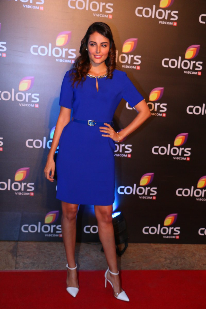 Madana Karimi looks stunning in a blue dress at Colors Annual Party 2016 Image-Picture