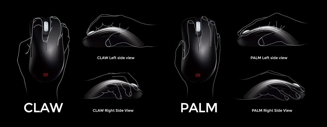 how to hold a mouse for gaming