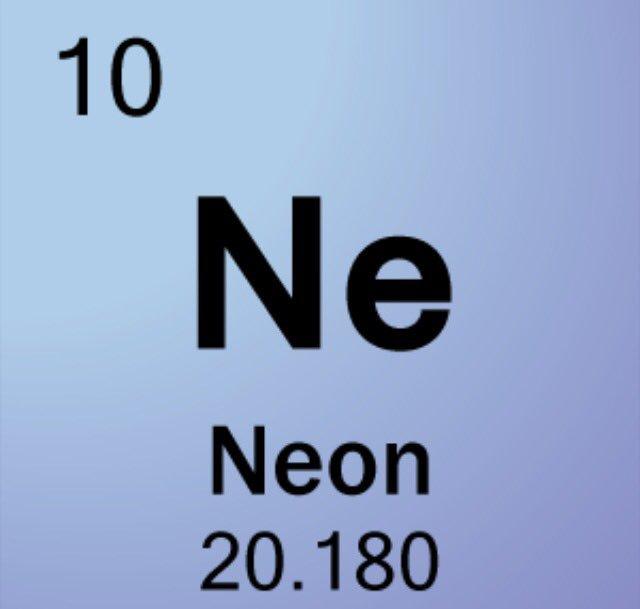 Neon On Twitter Atomic Number 10 Atomic Symbol Ne Atomic Weight