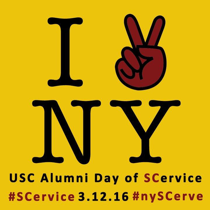 USC Day of SCervice. Fight On Trojans! #nySCerve #SCervice https://t.co/zQkgYmzZFu