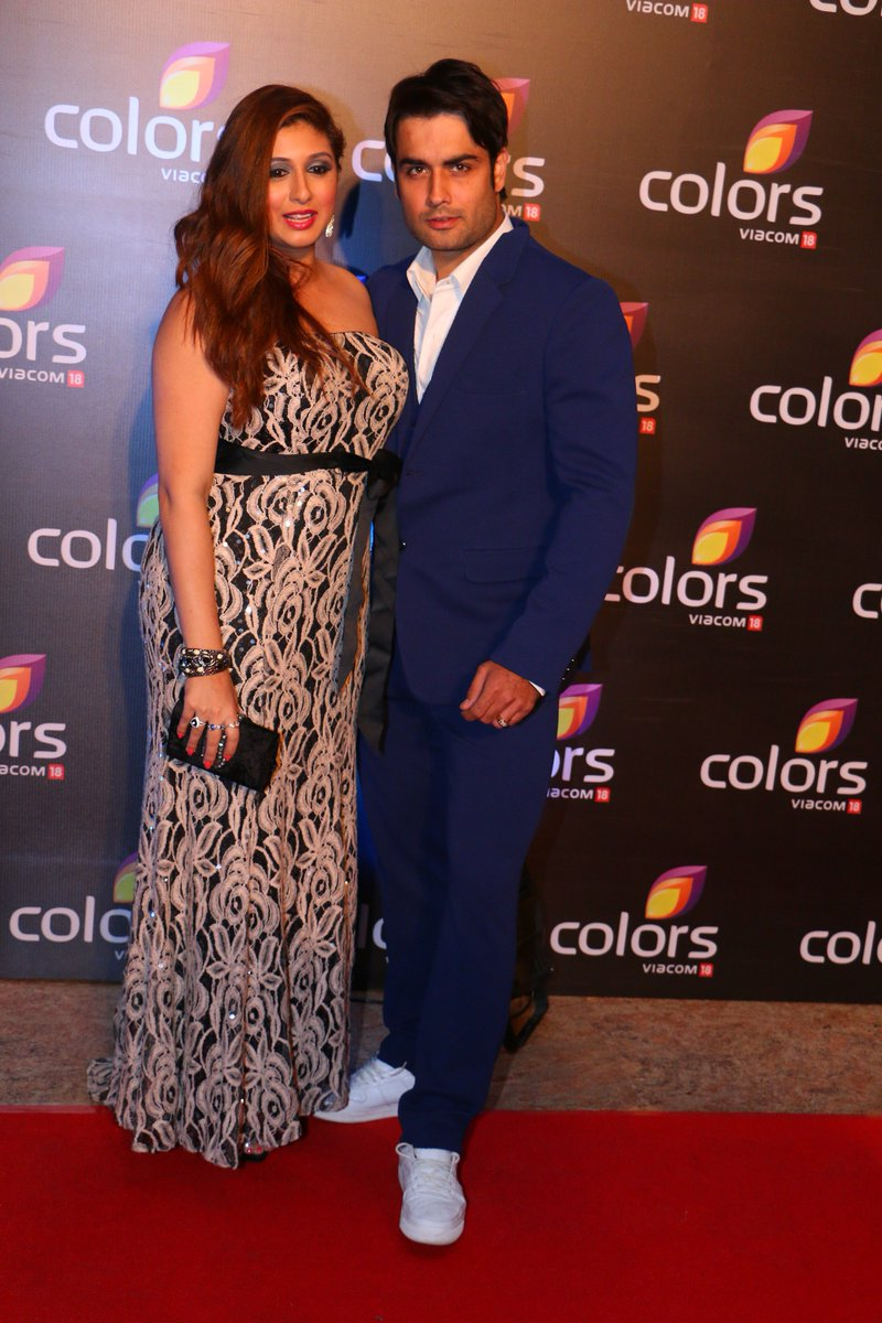 Vivian Dsena and wife Vahbbiz Dorabjee at Colors Party 2016 Image -Latest Photo